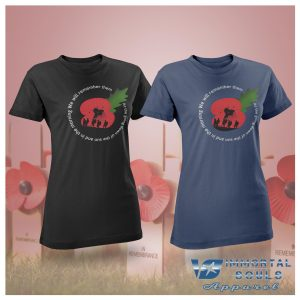 Remembrance Sunday 2017 – Poppy Day Ladies Fitted T-Shirt