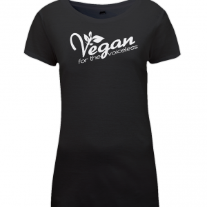 Vegan For The Voiceless Womens Regular Fitted T-Shirt