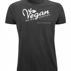 Vegan For The Animals (and the arguments) Fair Trade Unisex Fitted T-Shirt